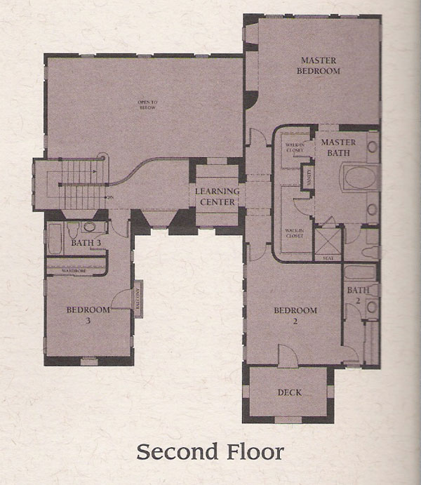 Valencia Woodlands Presidio Plan 2 second floor floor plan