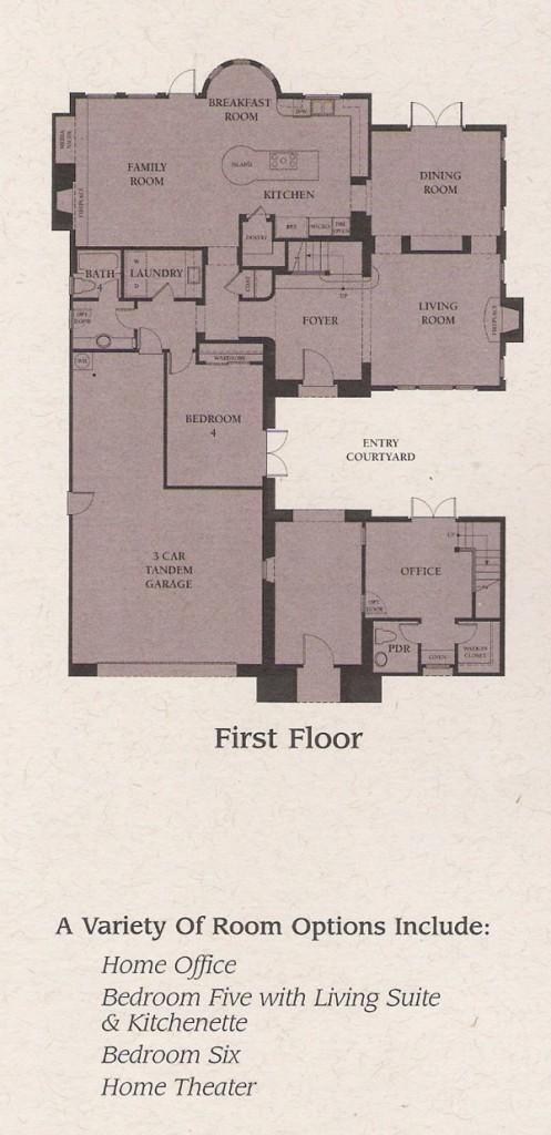 Valencia Woodlands Presidio Plan 3 first floor floor plan