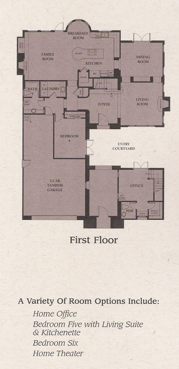 Valencia Woodlands Presidio Plan 3 first floor floor plan