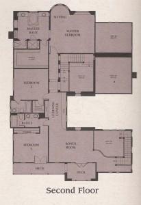 Valencia Woodlands Presidio Plan 3 second floor floor plan