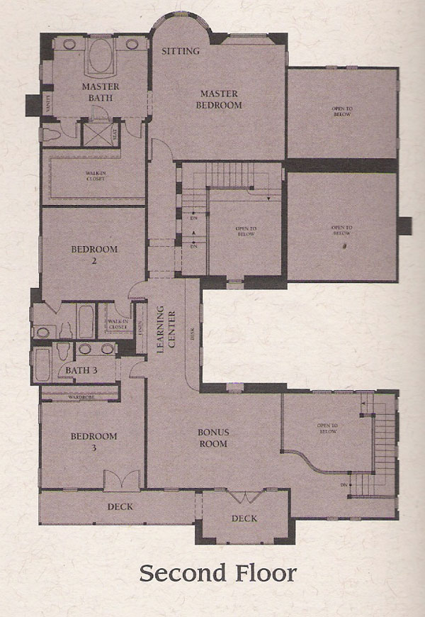 Valencia Woodlands Presidio Plan 3 second floor floor plan