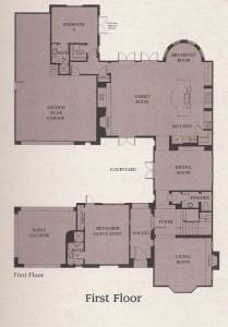 Valencia Woodlands Presidio Plan 4 fist floor floor plan