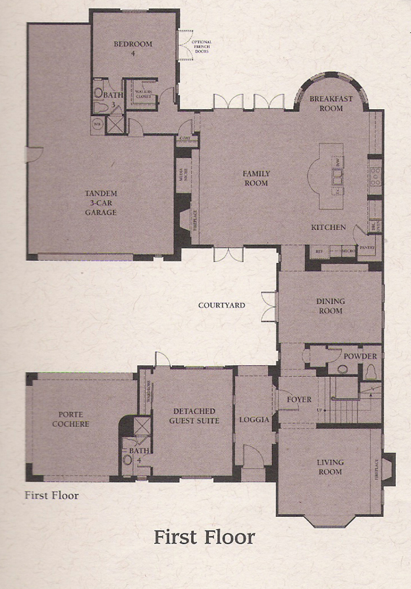 Valencia Woodlands Presidio Plan 4 fist floor floor plan