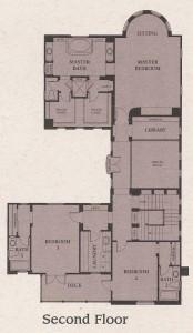 Valencia Woodlands Presidio Plan 4 second floor floor plan