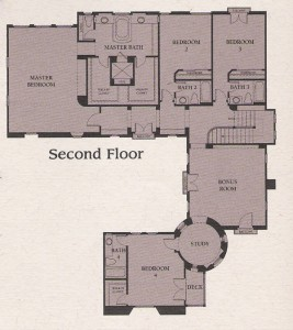 Valencia Woodlands Presidio Plan 5 second floor floor plan