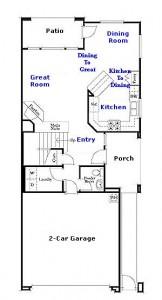 Valencia Westridge Bella Ventanes Tract Residence 1 Floor Plan first floor