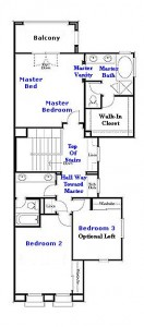 Valencia Westridge Bella Ventanes Tract Residence 1 Floor Plan second floor