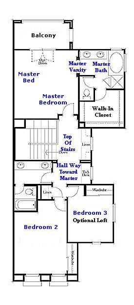 Valencia Westridge Bella Ventanes Tract Residence 1 Floor Plan second floor