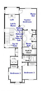 Valencia Westridge Bella Ventana Tract Residence 2 Floor Plan second floor
