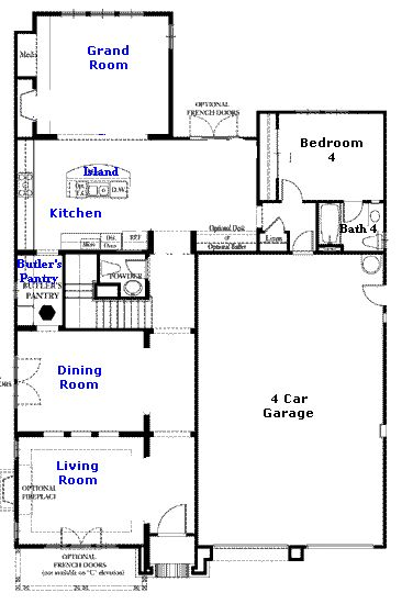Valencia Westridge Bent Canyon Tract Floor Plan first floor