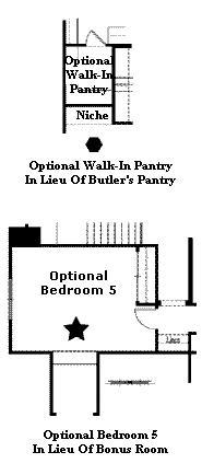 Valencia Westridge Bent Canyon Tract Floor Plan Options