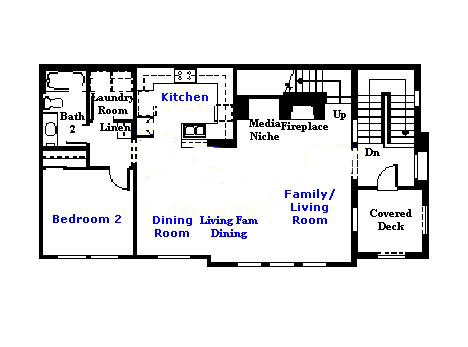 Valencia Westridge Cypress Pointe Tract Residence 1 Floor Plan first floor