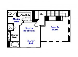 Valencia Westridge Cypress Pointe Tract Residence 1 Floor Plan third floor