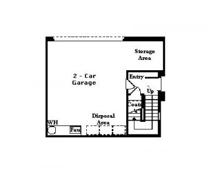 Valencia Westridge Cypress Pointe Tract Floor Plan first floor