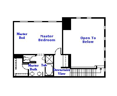 Valencia Westridge Cypress Pointe Residence 2 Floor Plan second third floor