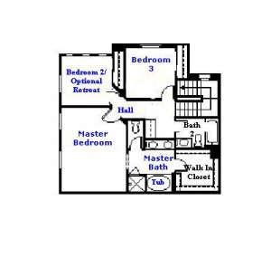 Valencia Westridge Cypress Pointe Tract Residence 3 Floor Plan second floor