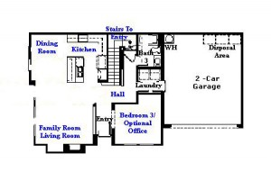 Valencia Westridge Cypress Pointe Tract Residence 4 Floor Plan first floor
