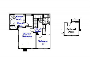 Valencia Westridge Cypress Pointe Tract Residence 4 Floor Plan second floor