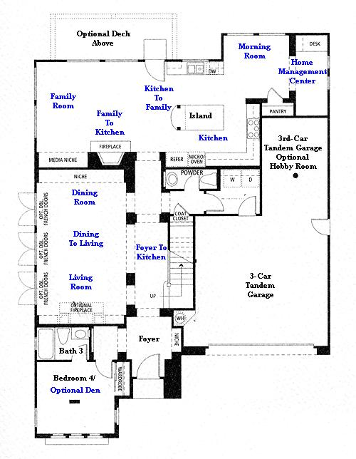 Valencia Westridge Masters Tract Residence 2 first floor plan