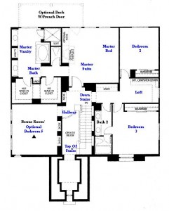 Valencia Westridge Masters Tract Residence 1 second floor floor plan