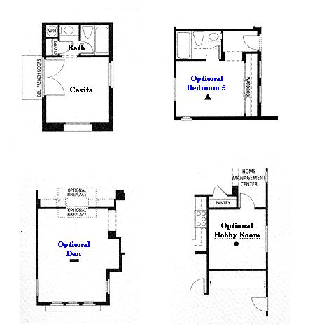 Valencia Westridge Masters Tract Residence 1 options floor plan