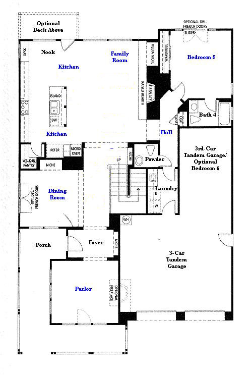 Valencia Westridge Masters Residence 3 first floor floor plan