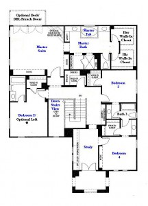 Valencia Westridge Masters Tract Residence 3 second floor floor plan