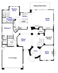 Valencia Westridge Masters Tract Residence 4 first floor floor plan