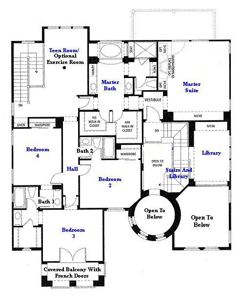 Valencia Westridge Masters Tract Residence 4 second floor floor plan