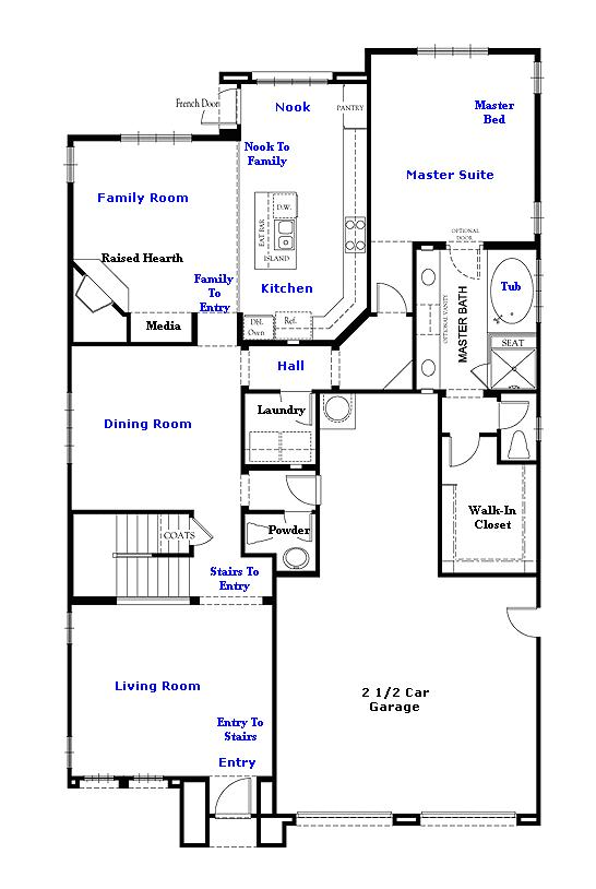 Valencia Westridge Montanya Tract Residence 1 Floor Plan first floor