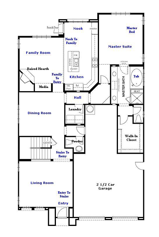 Valencia Westridge Montanya Tract Residence 1 Floor Plan first floor
