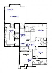 Valencia Westridge Montanya Tract Residence 1 Floor Plan second floor
