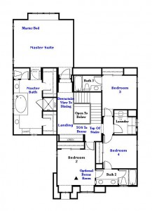 Valencia Westridge Montanya Tract Residence 3 Floor Plan second floor