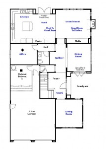 Valencia Westridge Montanya Tract Residence 3 Floor Plan first floor