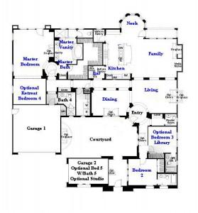 Valencia Westridge Oakmont Residence 1 Floor Plan first floor