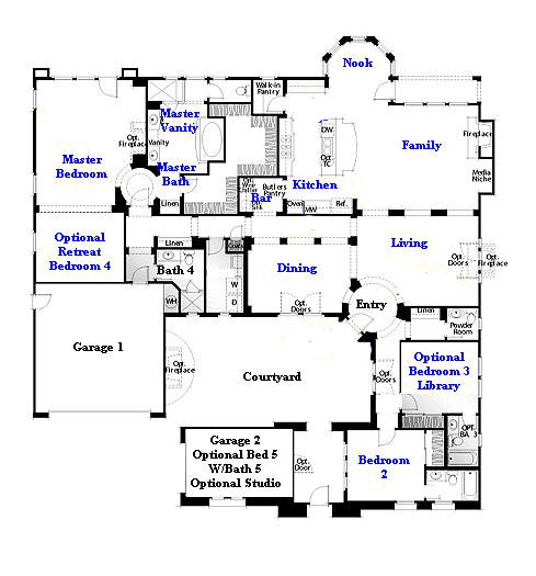 Valencia Westridge Oakmont Residence 1 Floor Plan first floor