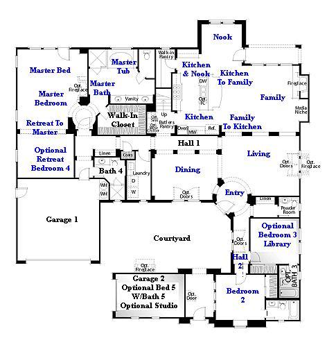 Valencia Westridge Oakmont Residence 2 floor plan first floor