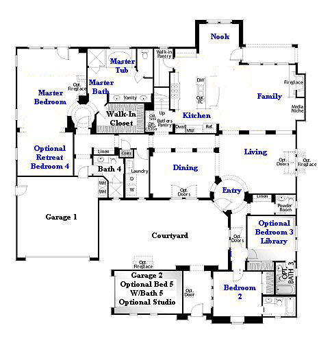 Valencia Westridge Oakmont Residence 2 Floor Plan first floor