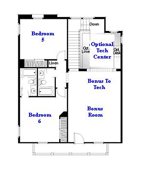 Valencia Westridge Oakmont Residence 2 floor plan second floor