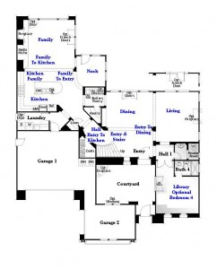 Valencia Westridge Oakmont Residence 3 Floor Plan first floor