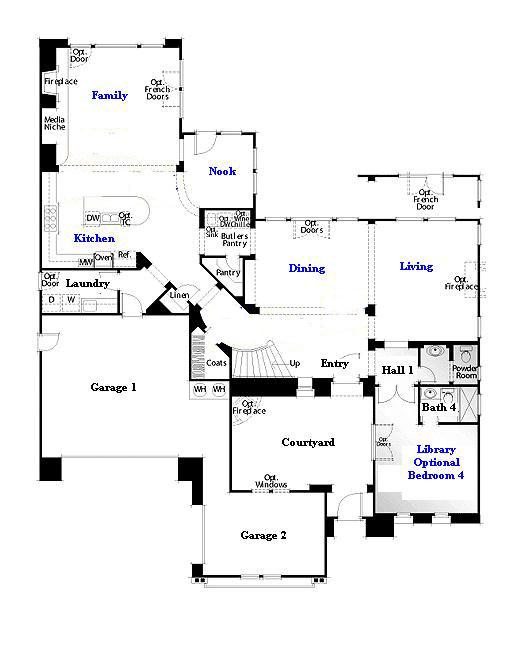 Valencia Westridge Oakmont Residence 3 Floor Plan first floor