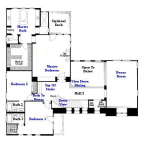 Valencia Westridge Oakmont Residence 3 Floor Plan second floor