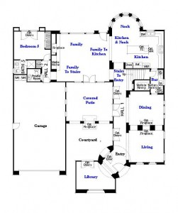 Valencia Westridge Oakmont Residence 4 Floor Plan first floor