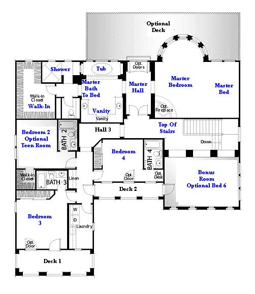 Valencia Westridge Oakmont Residence 4 Floor Plan second floor