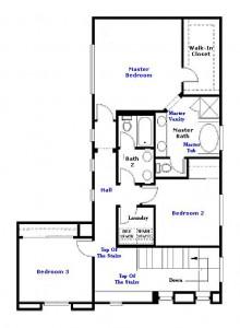 Valencia Westridge San Abella Tract Residence 1 Floor Plan second floor