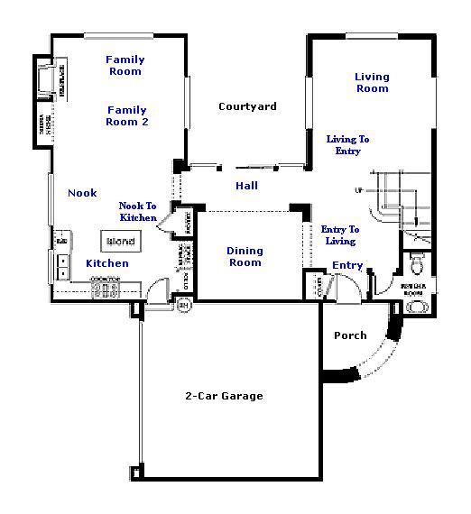 Valencia Westridge San Abella Tract Residence 3 Floor Plan first floor
