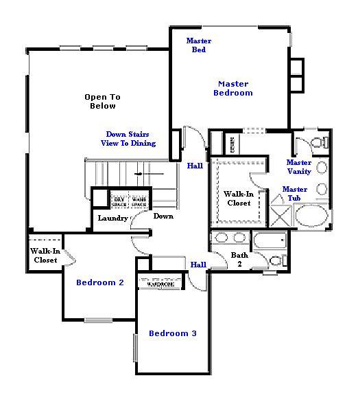 Valencia Westridge San Abella Tract Residence 4 Floor Plan second floor