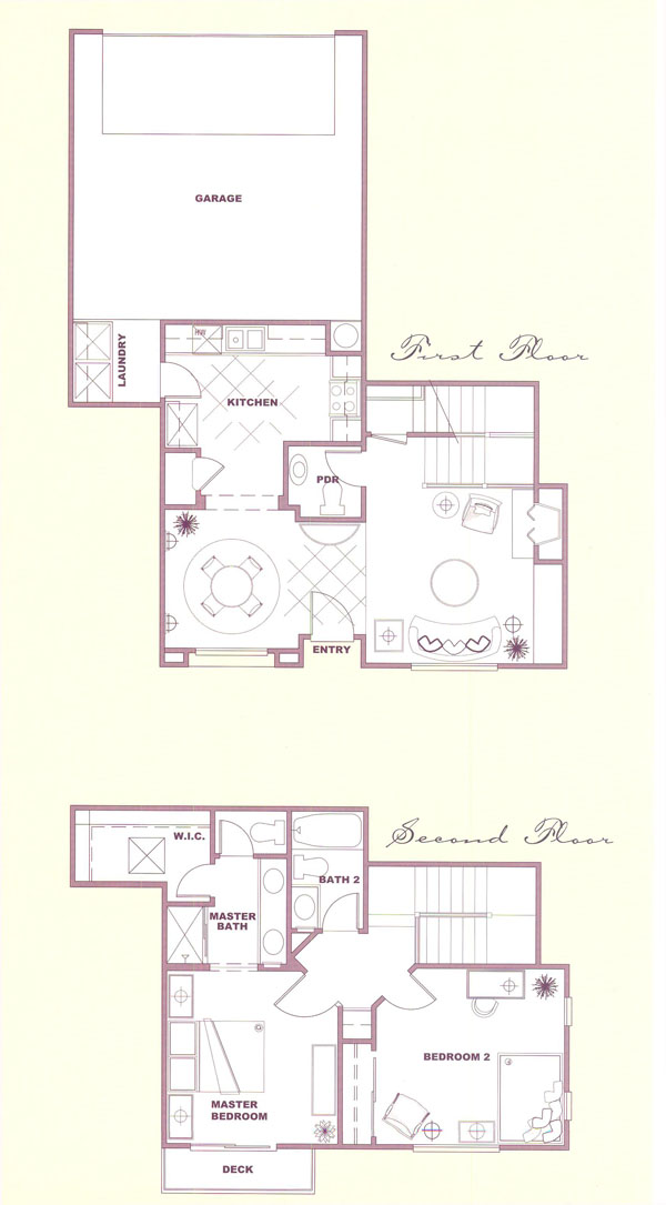 Canyon Country Solstice Tract Homes Plan 1 Floor Plan