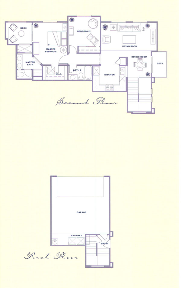 Canyon Country Solstice Tract Homes Plan 2 Floor Plan