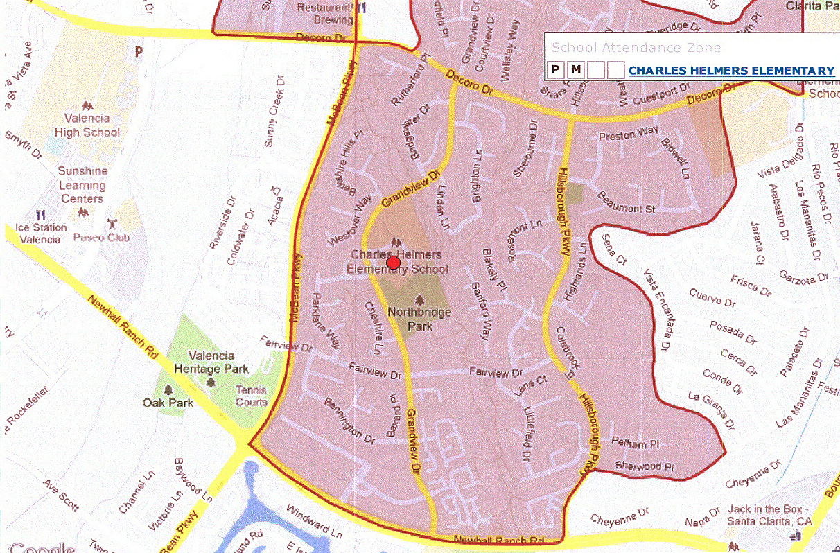 Charles Helmers Elementary School Boundary map 2